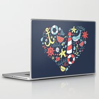 nautical Laptop & iPad Skins featuring Nautical by lindsey salles