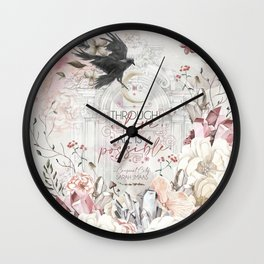 Through Love (SJM) Wall Clock