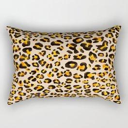 watercolor leopard pattern Rectangular Pillow