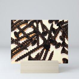 Black Screws Mini Art Print