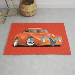 Custom Street Rod Vintage Car Hotrod Cartoon Rug