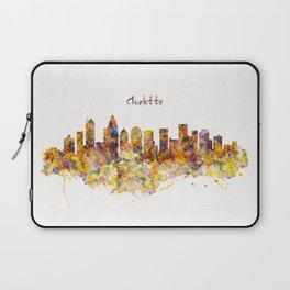 Charlotte Watercolor Skyline Laptop Sleeve