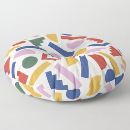 Colorful Geometric Shapes Floor Pillow