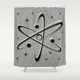 Atomic Love - Lunar Grey Shower Curtain