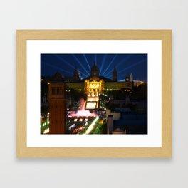 Barcelona at Night Framed Art Print