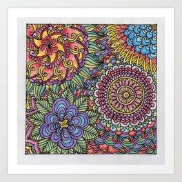 A Mess of Flowers Art Print