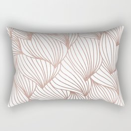 Rose gold petals Rectangular Pillow