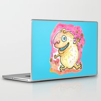 guinea pig Laptop & iPad Skins featuring Guinea Pig Monster by Scalmato Studio