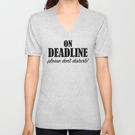 On Deadline Unisex V-Neck