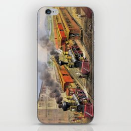 American Railroad Scene (Currier & Ives) iPhone Skin