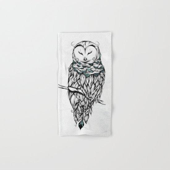 Poetic Snow Owl Hand & Bath Towel