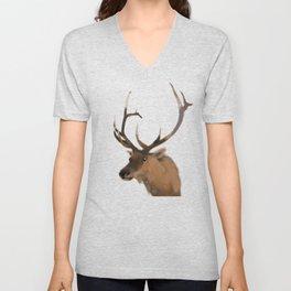 Elk Deer Unisex V-Neck