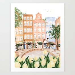 Amsterdam in the Spring Art Print