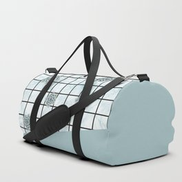 Succulents geometric composition - Mint Green Duffle Bag