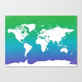 World map G Canvas Print