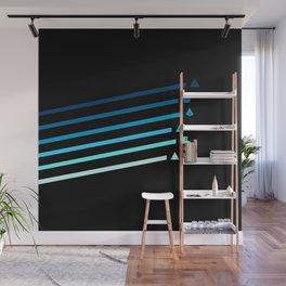 Blue Streaking Dice Wall Mural