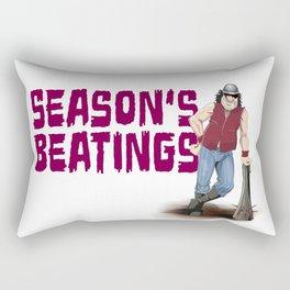 Season's Beatings Rectangular Pillow