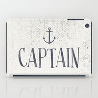 captain silva iPad Cases featuring Captain by More Than Cake