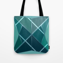 Mosaic tiled glass with black rays Tote Bag