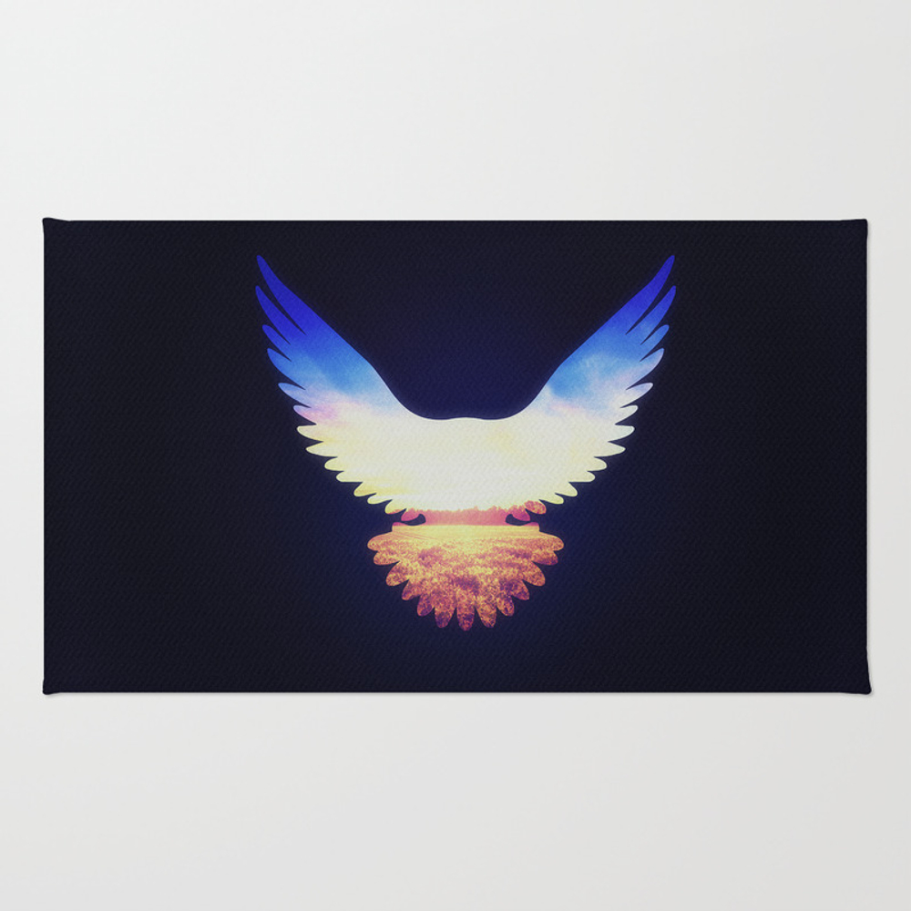 The Wild Wings Throw Rug by Badbugsart RUG850594
