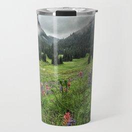 Berkeley Park, Mt. Rainier, Wildflowers Travel Mug