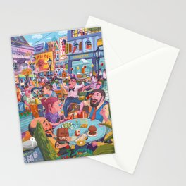 Terace BP soft colors Stationery Cards