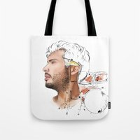 drums Tote Bags featuring Drums by Lluna Llunera