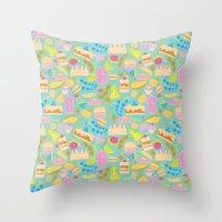 baking Throw Pillows featuring Baking pattern by Calidurge