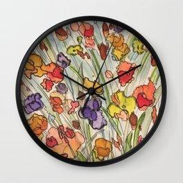 Rainbow Flourish A Wall Clock