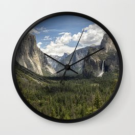 Tunnel View - Yosemite National Park Wall Clock