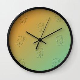 Teeth pattern Sun retro gradient color Wall Clock
