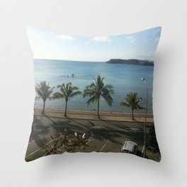 A beach in Noumea Throw Pillow