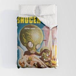 Invasion of the SaucerMen, Horror Movie Vintage Poster Comforters