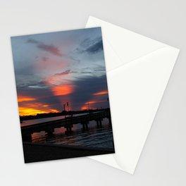 Jensen Beach Fishing Pier at Sunset Stationery Cards