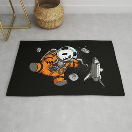 Panda Bear Space Astronaut Cosmic Animal Rug