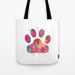 Colorful Paw Tote Bag