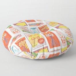 Asian Snacks Floor Pillow