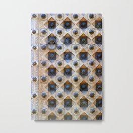 Wood Door Texture Metal Print