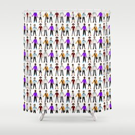 Multicultural Gay Relationships Shower Curtain