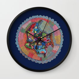 Colombia Azul Wall Clock