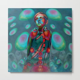 """Psychedelic Pop Fantasy"" (Twiggy) Metal Print"