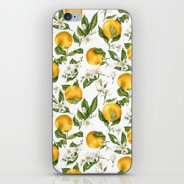 Citrus OrangeTree Branches with Flowers and Fruits iPhone Skin