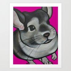 Bella the Chinchilla Art Print