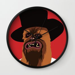 The Good, The Bad and The Ugly Wookie Wall Clock
