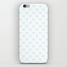 Blue butterflies iPhone Skin