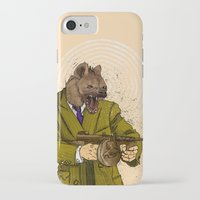 gangster iPhone & iPod Cases featuring Gangster Hyena by Ichorteeth