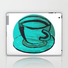 tea cup in green Laptop & iPad Skin
