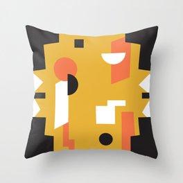 Techno Thunder Throw Pillow