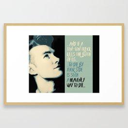 """""""Heavenly way to Die"""" Framed Art Print"""