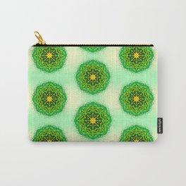 Mandala Zen Greenery Seamless Pattern Design Carry-All Pouch